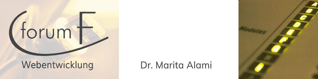 Webentwicklung Köln | Dr. Marita Alami | forumF - Nachhaltige Web-Entwicklung – Individuelle Websites von Expertin